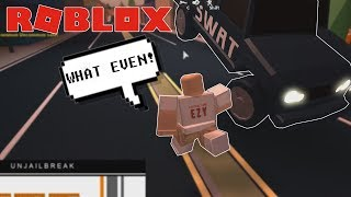 ROBLOX Exploit Trolling - FLYING SWAT CARS IN JAILBREAK
