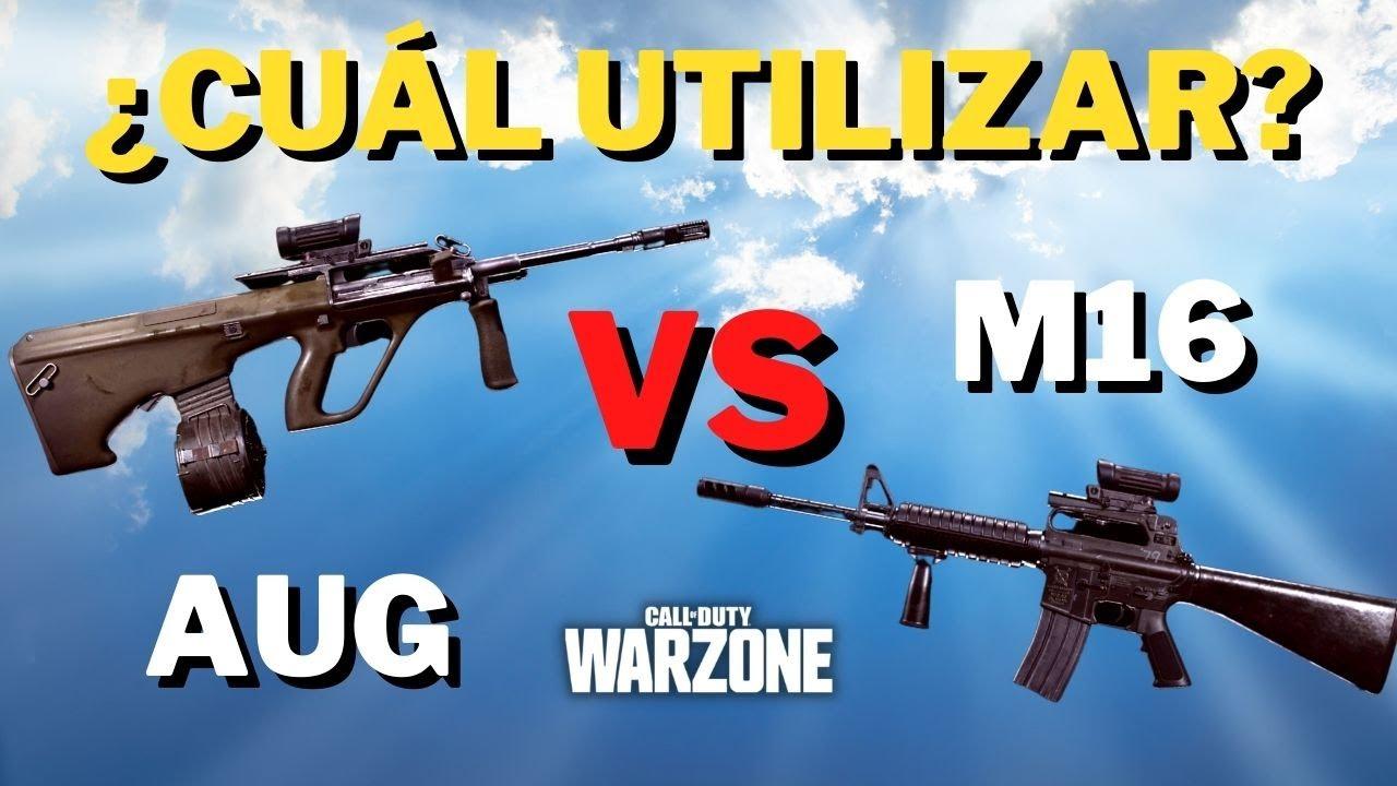 Download cual es mejor AUG VS M16 en WARZONE *MEJORES ACCESORIOS*