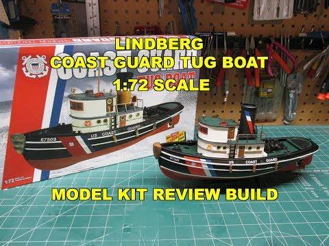 LINDBERG COAST GUARD TUG BOAT 1:72 MODEL KIT REVIEW BUILD HL228