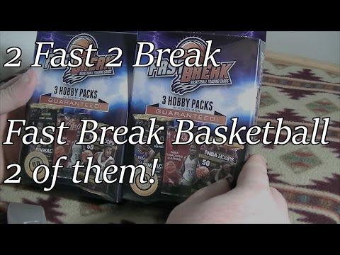2 Fast Break Basketball Retail Box Breaks with 2013-14 Hobby Packs 3 hits!