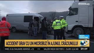 Accident grav: Şase persoane rănite într-un accident pe DN 17, în judeţul Suceava