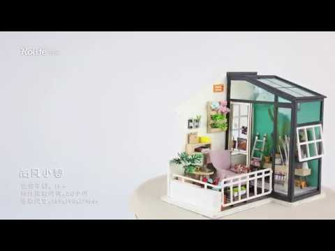 Robotime Mini dollhouse Balcony Daydreaming DGM05