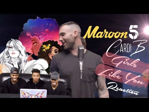 Maroon 5 - Girls Like You Feat. Cardi B REACTION