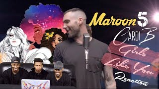 Download Lagu Maroon 5 - Girls Like You Feat. Cardi B REACTION Mp3