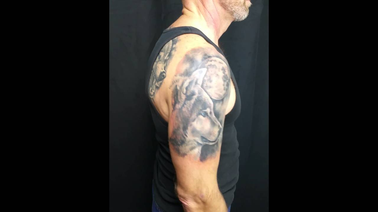 Wolf And Moon Cover Up Half Sleeve Tattoo Youtube