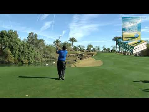 Patrick Reed super golf swing from down the line