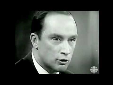 Pierre Elliot Trudeau en 1968, sur l