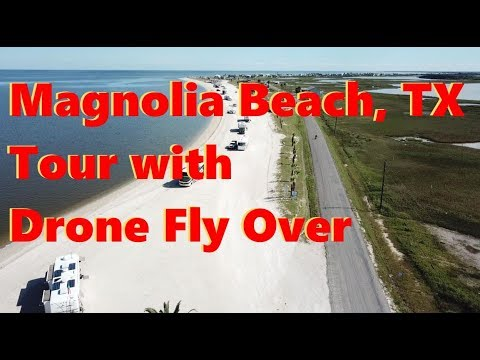Boondocking at Magnolia Beach, TX with Drone Fly Over