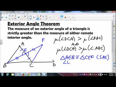 MATH335 SUNYGeneseo Neutral Geometry 7 Exterior Angle Thm