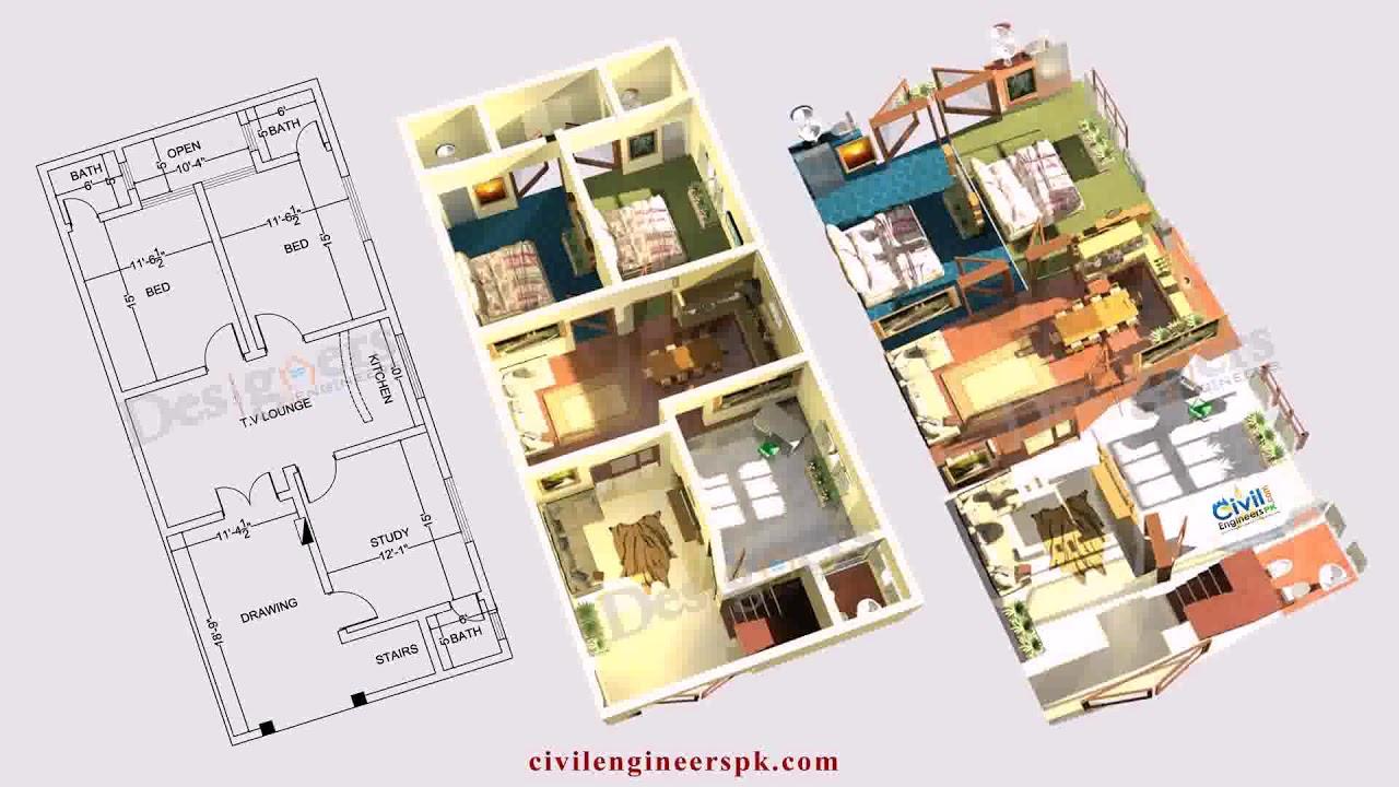 6 Marla House Design In Pakistan Youtube
