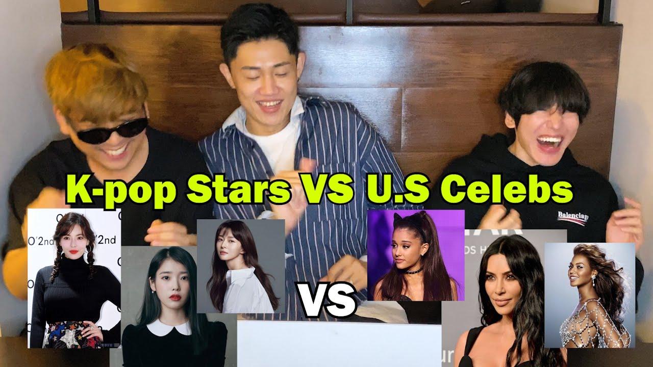 K pop stars VS American Female Celebrities | KOREAN REACTION