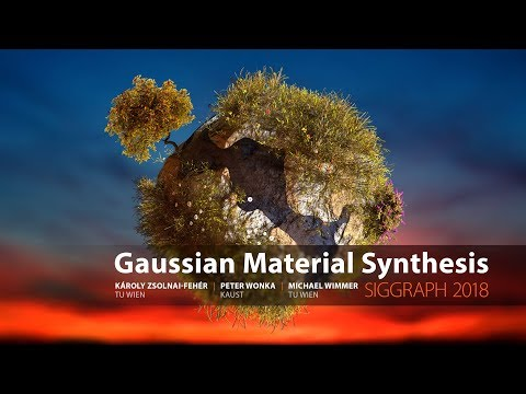 Gaussian Material Synthesis (SIGGRAPH 2018)