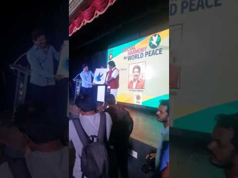 WORLD PEACE CONFERENCE  LOGO RELEASE BY DR. RAJEEV