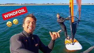 RETOUR À L'EAU: WINDFOIL SESSION PLAISIR!! 😍