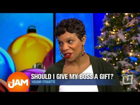 Holiday Etiquette Office Gift Giving Advice from Akilah Easter 2
