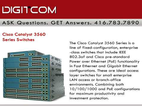 Cisco Catalyst 3560 Series Switches, Digitcom ca Business Phone Systems