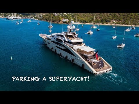 Parking a 285ft Superyacht!