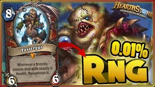 Hearthstone - RNG WTF Moments - Funny and Lucky Plays