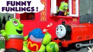 Funny Funlings Pranks At Mcdonalds Drive Thru With Thomas The Train And And Cars Mcqueen Tt4u