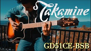 Takamine GD51CE BSB Dreadnought Cutaway Acoustic Guitar Soundtest
