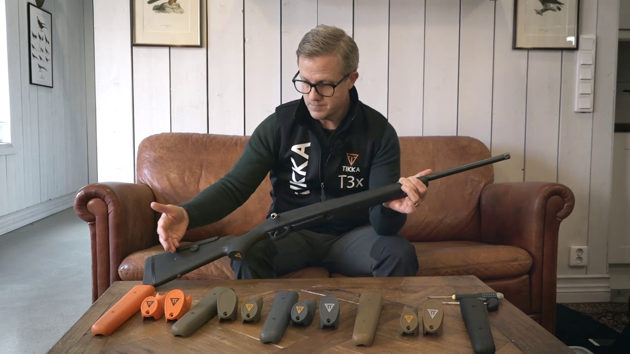 TIKKA ACCESSORIES Customize your T3 rifle with new pistol and front grips   - English subtitles