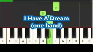 ABBA - I Have A Dream on piano... but it's soooooo easy! 😊 (Mamma Mia)