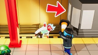 DO NOT GET HIT BY THE TRAIN! (Gang Beasts)