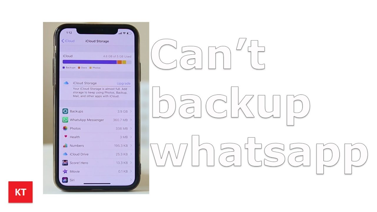 Fixed Whatsapp backup stuck in iPhone | iCloud backup error