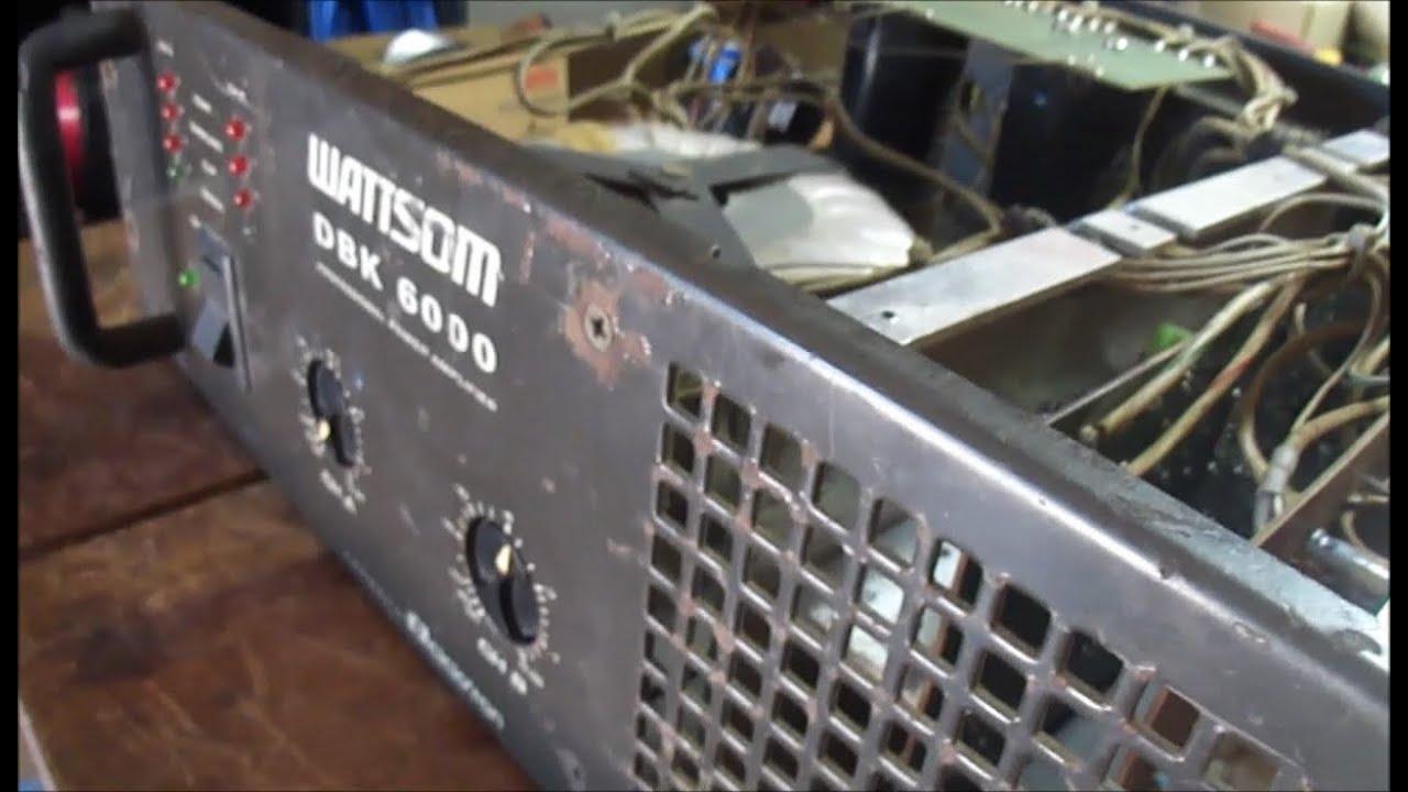 Defeito e conserto Amplificador DBK 6000