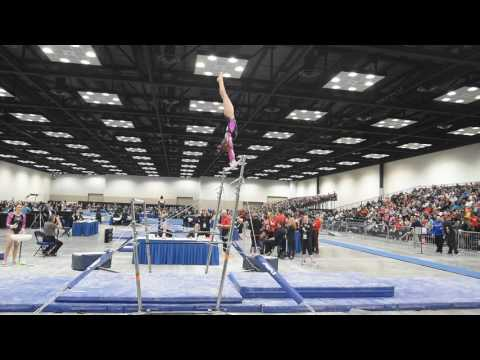 Colby Miller - Uneven Bars - 2017 Women's Junior Olympic Championships