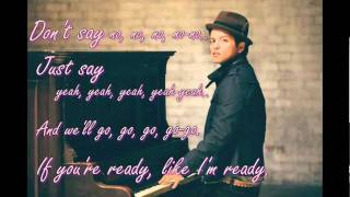 Bruno Mars - Marry You (Lyrics)