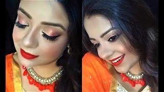 Indian Wedding Guest Makeup for beginners   Step by Step Festive Look   Eid Mubarak