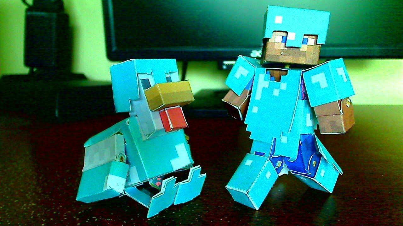 Minecraft Papercraft Diamond Armor Rooterbuster