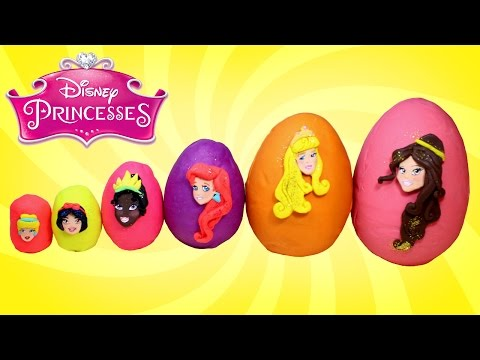 Thumbnail: Smallest to Biggest Disney Princess Play Doh Surprise Eggs - Learn Sizes