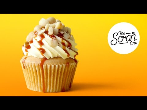 SALTED CARAMEL MACADAMIA NUT CUPCAKES - The Scran Line