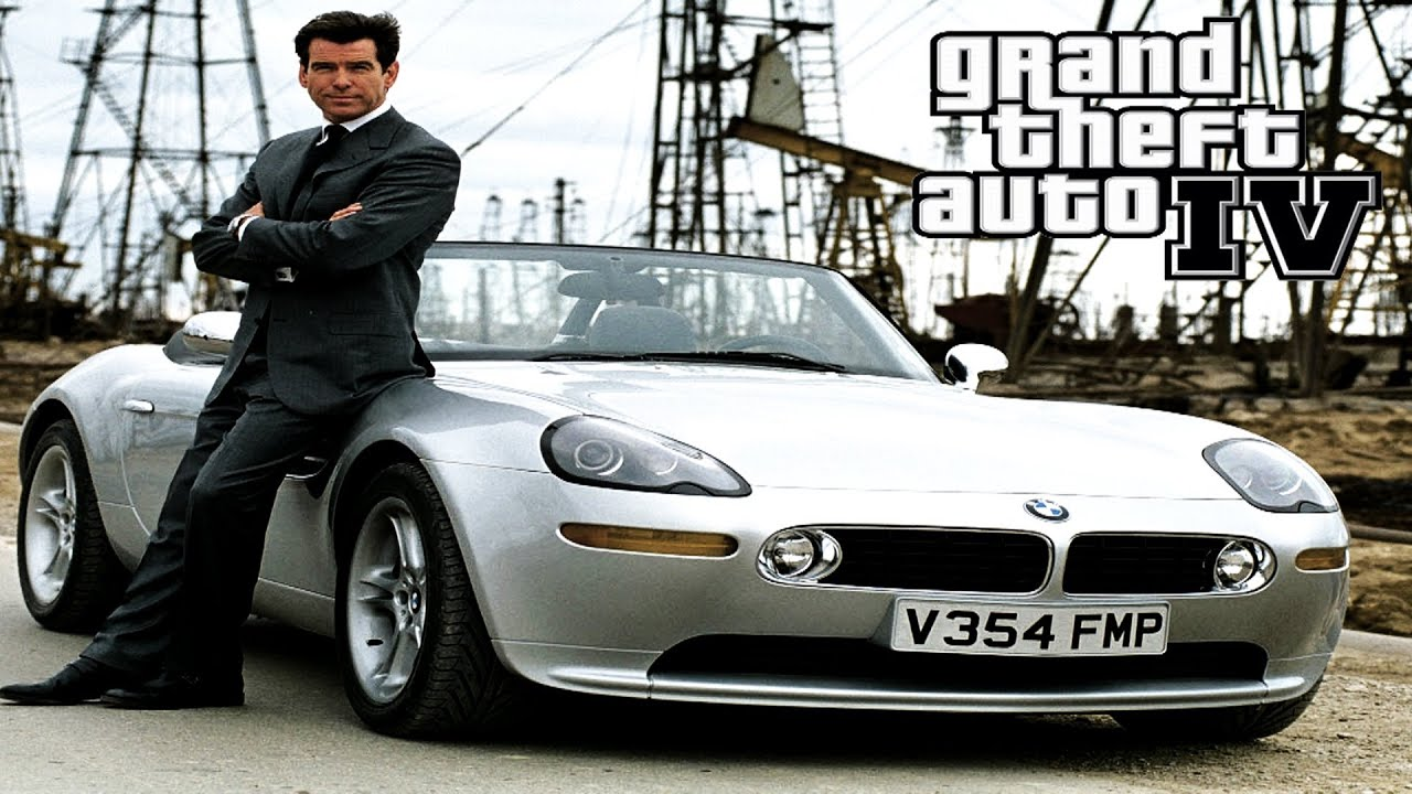 007 The World Is Not Enough Movie Car Bmw Z8 Gta 4 Youtube