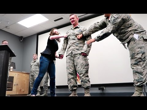 PROMOTED! 🙌 Air Force SrA to SSgt Promotion Ceremony