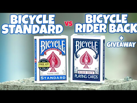 Bicycle RIDER BACK Vs Bicycle STANDARD + GIVEAWAY