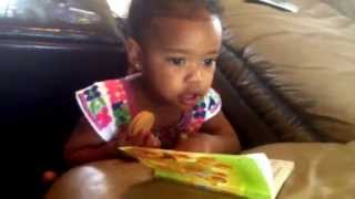Leila (1 yr old) sings Listen Obey and Be Blessed