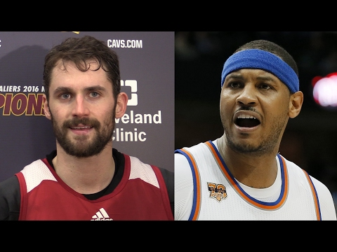 Kevin Love, LeBron James on Cavs' trade rumors with Carmelo Anthony