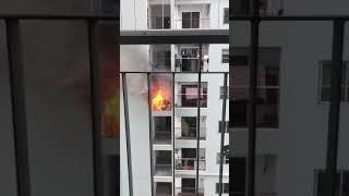 Cháy Hành lang căn hộ Chung cư Lideco Trần Hưng Đạo Toà B Hạ Long