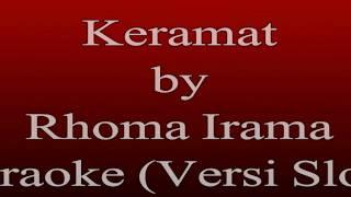 Karaoke Rhoma Irama - Keramat  Karaoke Dangdut Versi Slow