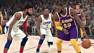 NBA 2K20 Gameplay - Los Angeles Clippers vs Los Angeles Lakers - NBA 2K20 PS4