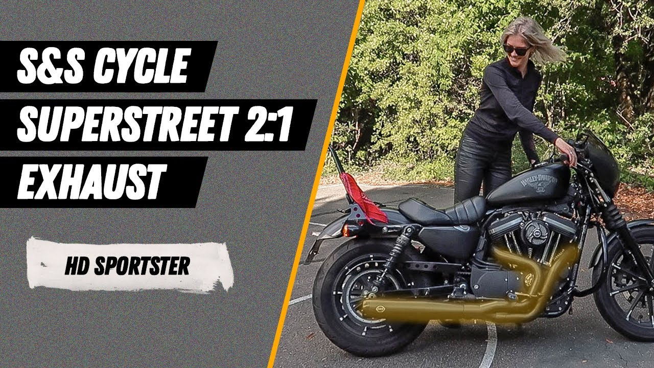 harley davidson iron 883 with s s superstreet 2 1 exhaust
