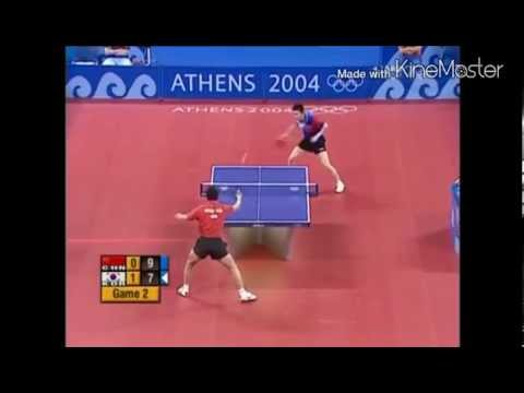 Table Tennis Olympic 2004 Wang Hao vs Ryu Seung Min highlights