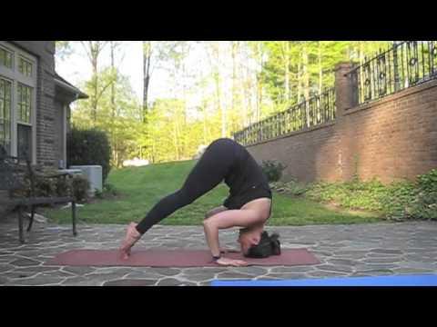 yoga tripod headstand tutorial  youtube