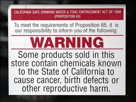 What is California Proposition 65? Supplement WARNING Labels (UPDATE) - VLOG 4