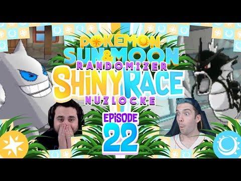 BLACK GYARADOS! SO MANY DEATHS Pokemon Sun and Moon Randomizer Shiny Race Nuzlocke w/ MandJTV! Ep 22