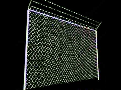 Chainlink fence Barbed wire High detail 3D model from CGTrader com