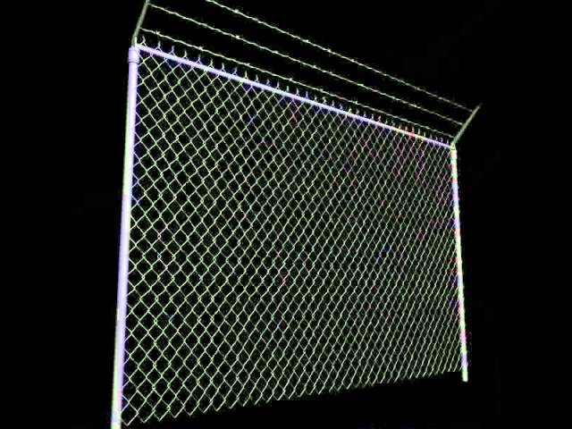 Chain Link Fence 3d Model Architecture On Hum3d